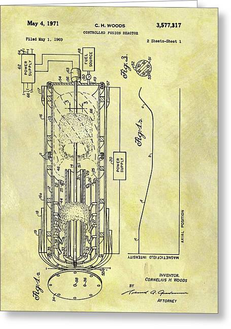 Fusion Reactor Patent Greeting Card by Dan Sproul
