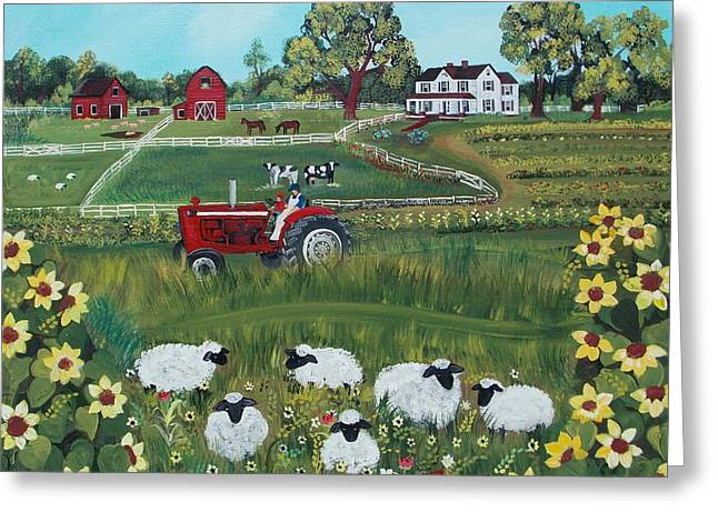 Future Farmer Greeting Card by Virginia Coyle