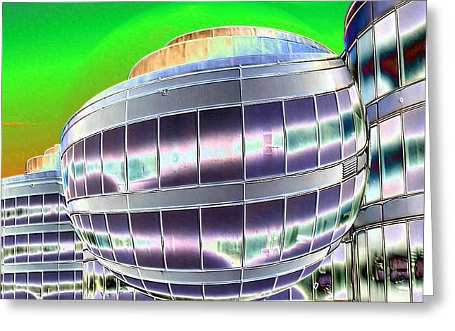 Office Space Digital Art Greeting Cards - Future Office Space Greeting Card by Carol Groenen