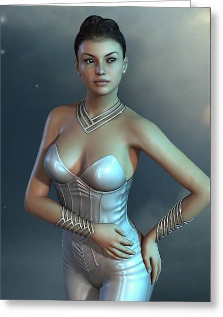 Futuristic Fashion Style Greeting Card