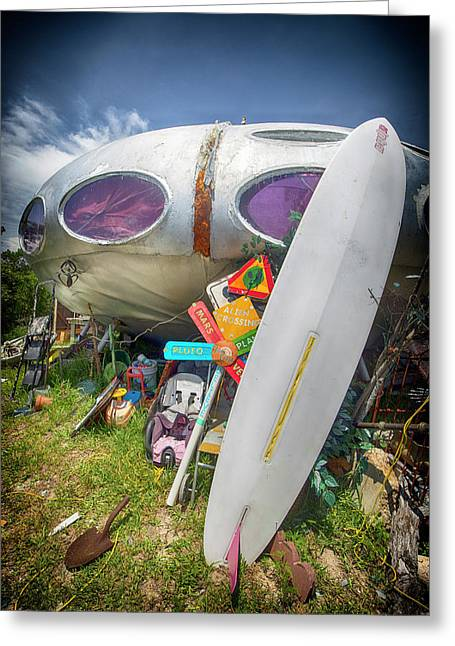 Greeting Card featuring the photograph Futuro House 2 by Alan Raasch