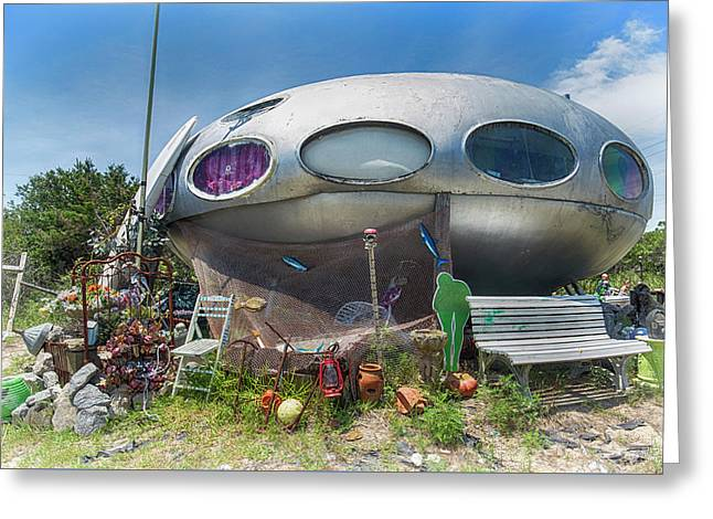 Greeting Card featuring the photograph Futuro House by Alan Raasch