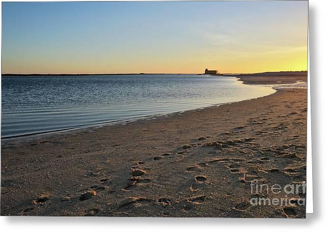 Fuzeta Beach Sunset Scenery. Portugal Greeting Card by Angelo DeVal