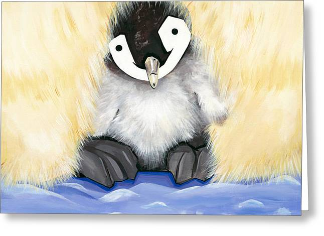 Fuzzy Baby Greeting Card by Michelle  Eggan