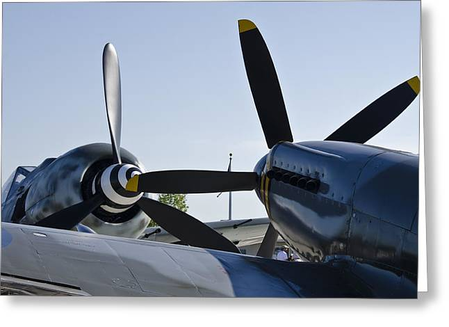 Fw190 And Spitfire Greeting Card