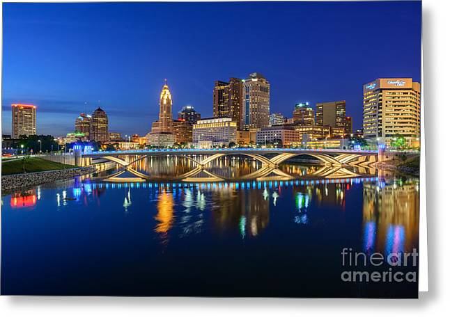 Fx2l531 Columbus Ohio Skyline Photo Greeting Card