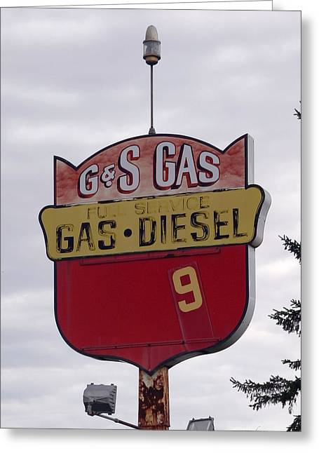 G - S Gas - Sorry We Are Closed Greeting Card