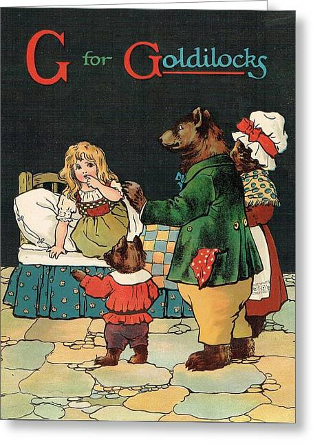 G For Goldilocks Greeting Card