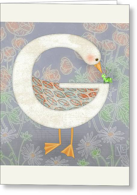 G Is For Goose And Grasshopper Greeting Card