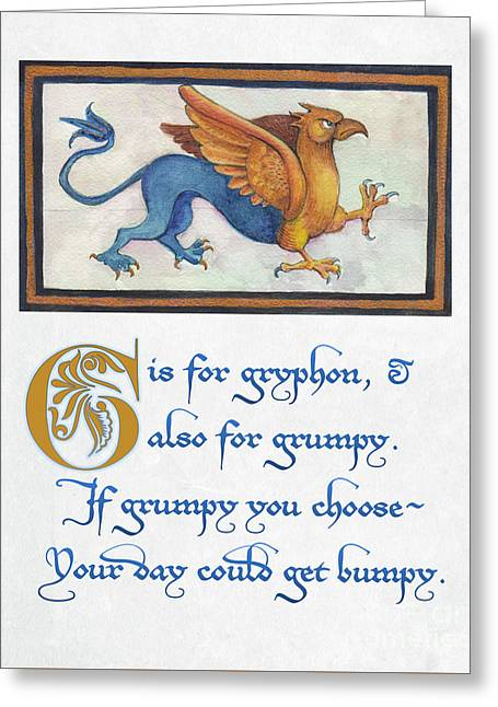 G Is For Gryphon Greeting Card