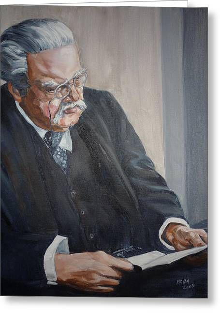 G K Chesterton Greeting Card