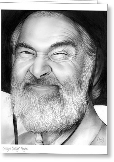Gabby Hayes Greeting Card by Greg Joens