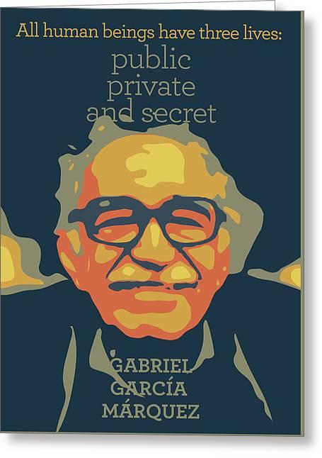 Gabriel Garcia Marquez Greeting Card by Greatom London
