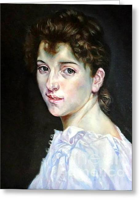 Gabrielle After W. Bouguereau Greeting Card by Hidemi