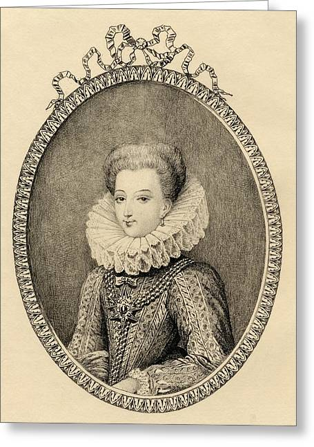 Gabrielle D Estrees, Duchess Of Greeting Card by Vintage Design Pics