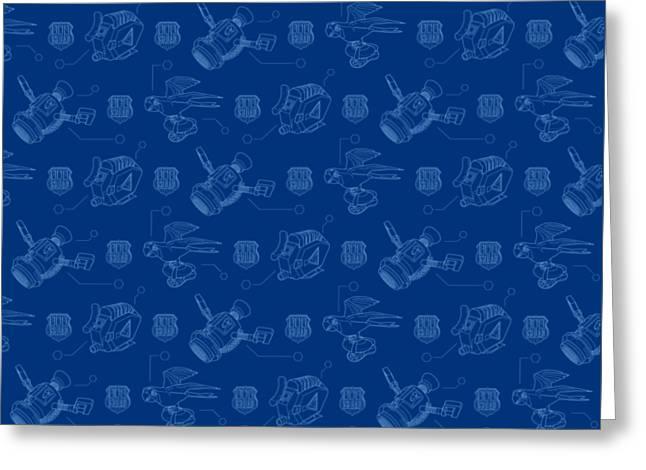 Gadget Blueprints Greeting Card by Odd Squad