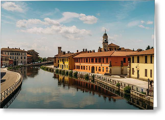 Gaggiano On The Naviglio Grande Canal, Italy Greeting Card
