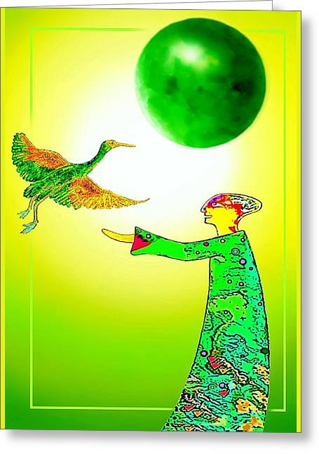 Gaia  And Friend Greeting Card by Hartmut Jager