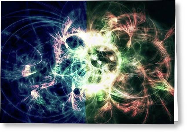 Gaia Awake #art #abstract #digitalart Greeting Card by Michal Dunaj