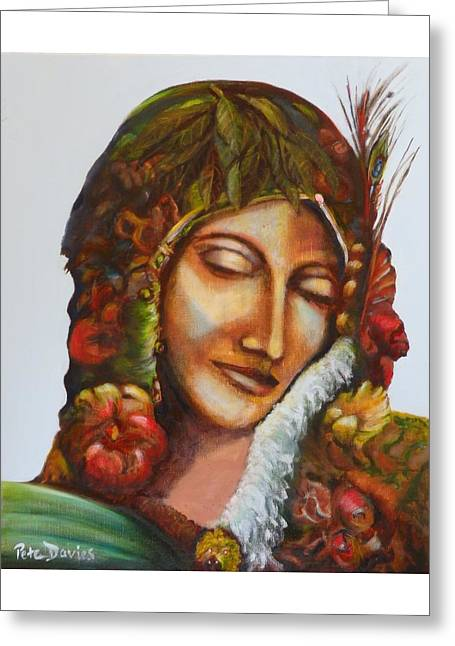 Gaia - Earth Mother  Greeting Card by Pete Davies