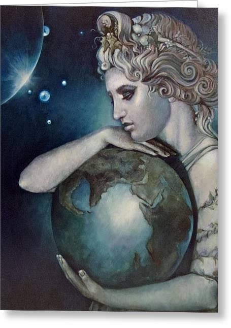 Gaia Greeting Card by Geraldine Arata