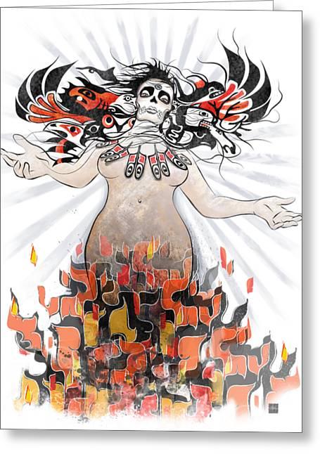Gaia In Turmoil Greeting Card