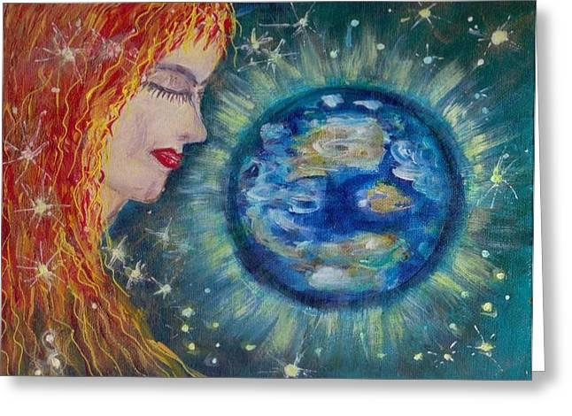 Gaia  Greeting Card by Mary Sedici