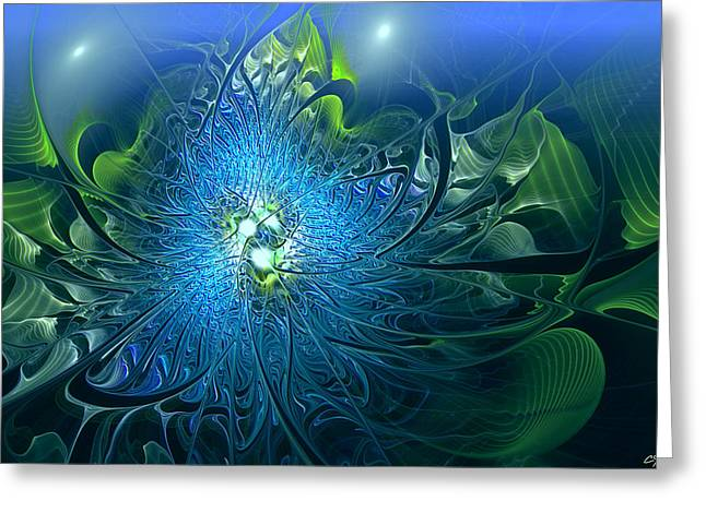 Gaia's Emergence Greeting Card by Casey Kotas