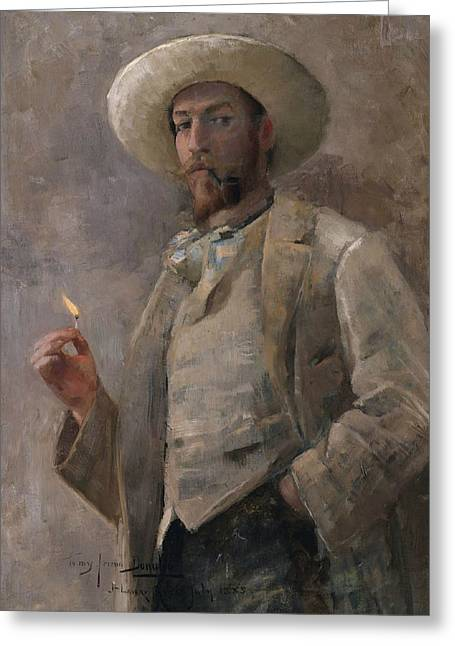 Gaines Ruger Donoho Greeting Card by John Lavery