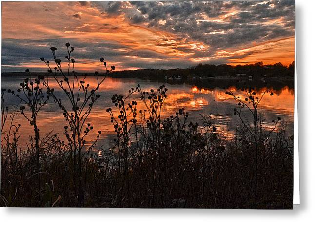 Gainesville Sunset 2386w Greeting Card