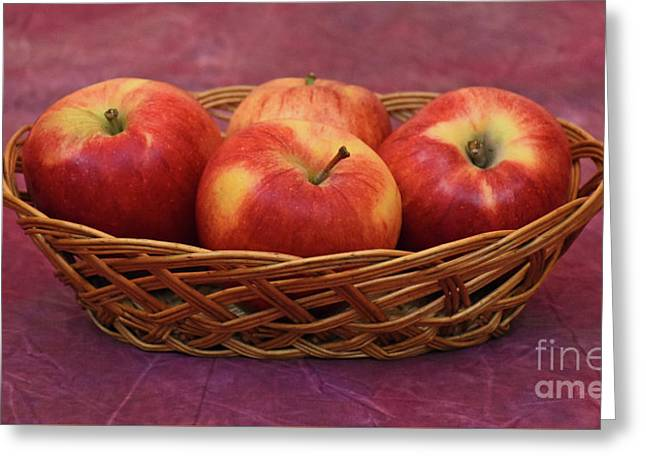 Gala Apple Basket Greeting Card