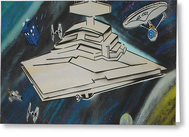 Galactic Battle Greeting Card