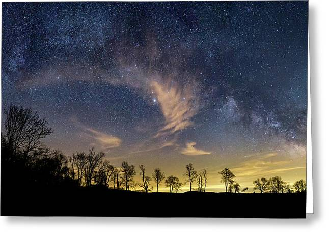 Galactic Skies Greeting Card by Bill Wakeley