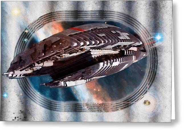 Galactica Commission  Greeting Card