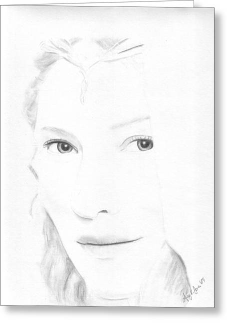 Cate Blanchett Greeting Cards - Galadriel Greeting Card by Amy Jones