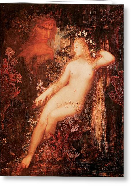 Galatea Greeting Card by Gustave Moreau