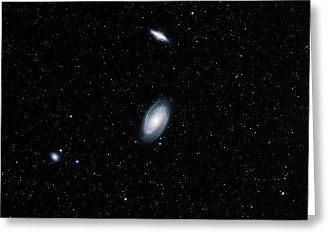 Galaxies M81 And M82 Greeting Card by Davide De Martin