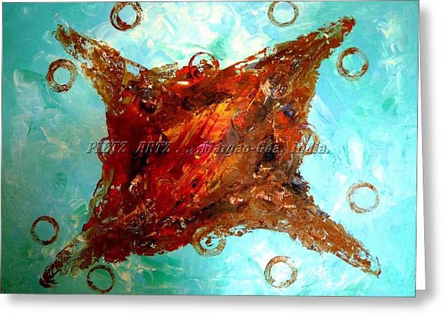 Greeting Card featuring the painting Galaxies by Piety Dsilva
