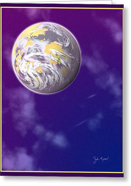 Galaxy 3 Greeting Card by John Keaton