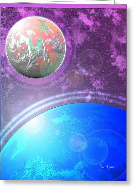 Galaxy 4 Greeting Card by John Keaton