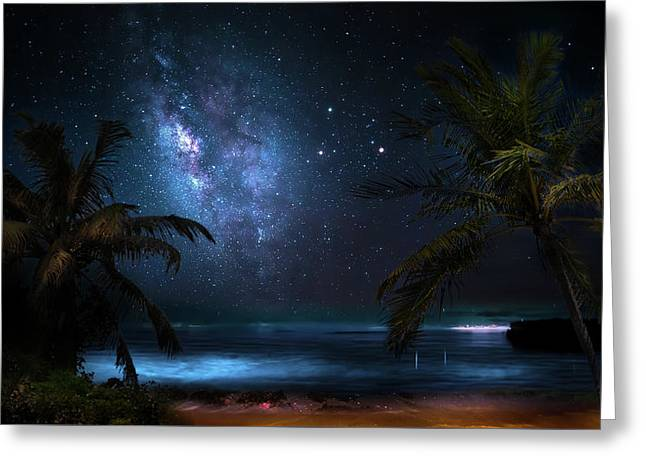 Galaxy Beach Greeting Card by Mark Andrew Thomas
