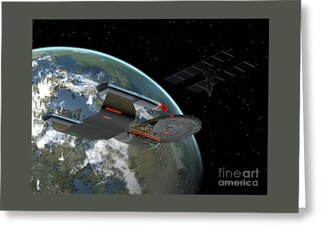 Galaxy Class Star Cruiser Greeting Card