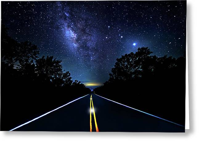 Greeting Card featuring the photograph Galaxy Highway by Mark Andrew Thomas