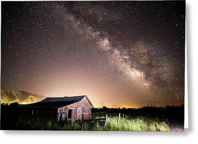 Galaxy In Star Valley Greeting Card