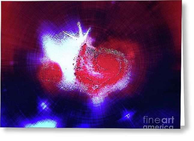 Galaxy Light Heart Greeting Card by Jennifer Allen