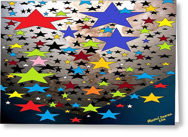 Galaxy Of Briliantly Glamourous Stars # Greeting Card by Mbonu Emerem