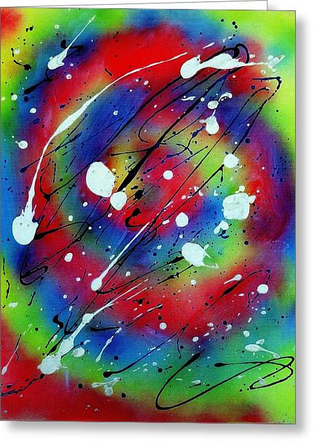 Galaxy Greeting Card by Patrick Morgan