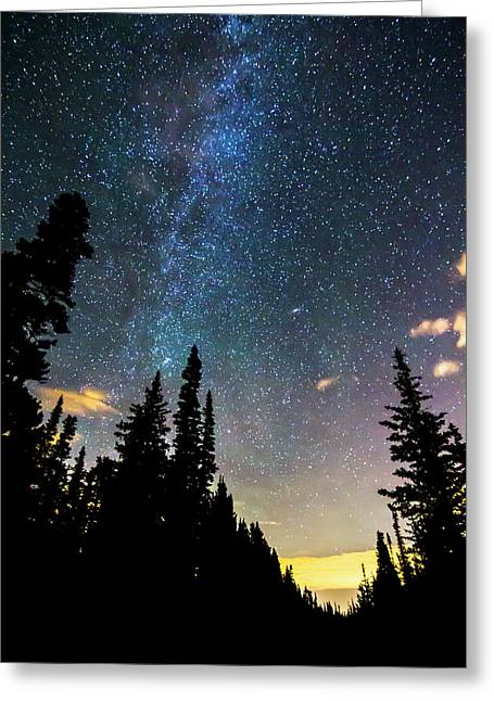 Greeting Card featuring the photograph  Galaxy Rising by James BO Insogna