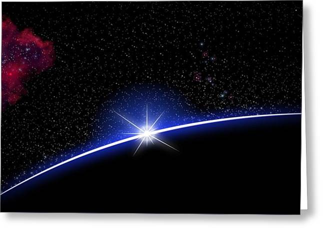 Galaxy Rising Greeting Card