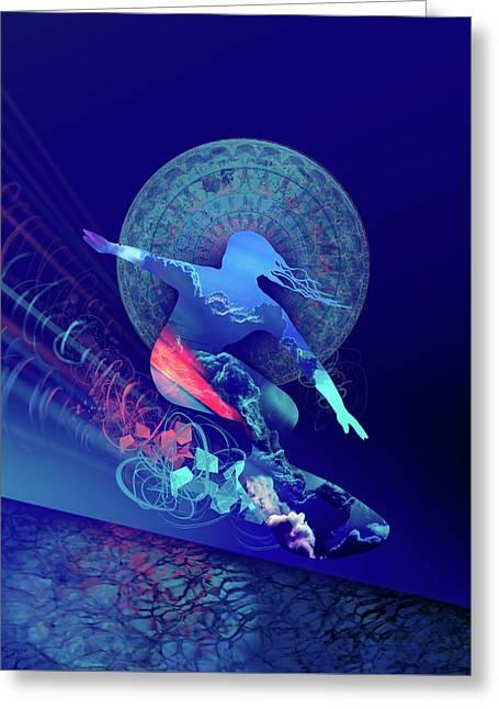Galaxy Surfer 4 Greeting Card